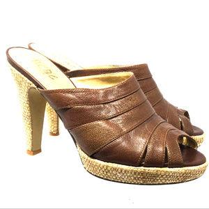 BCBG Women's Open Toe Slip on Pump Sandals Sz 9B